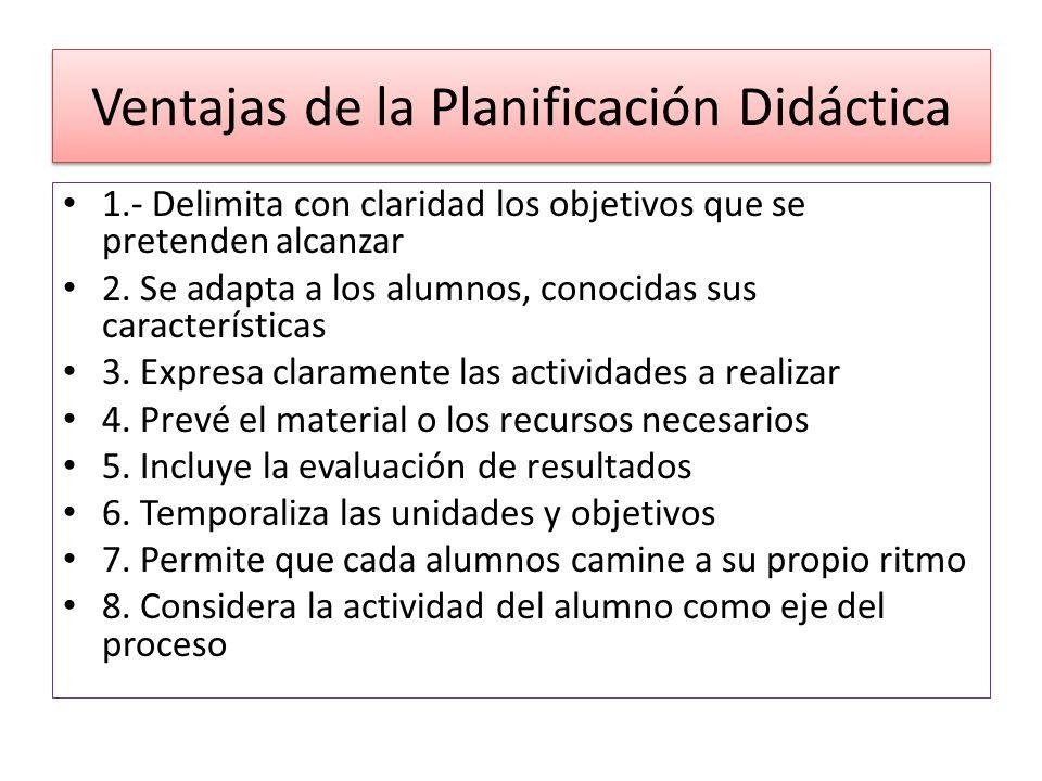 Ventajas de la Planificación Didáctica
