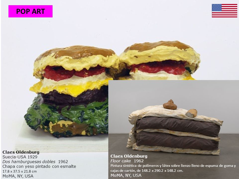 POP ART Claes Oldenburg Suecia-USA 1929 Dos hamburguesas dobles 1962