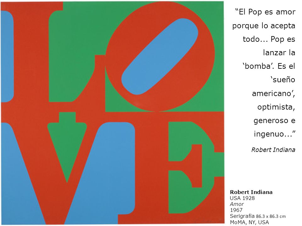 El Pop es amor porque lo acepta todo. Pop es lanzar la 'bomba'