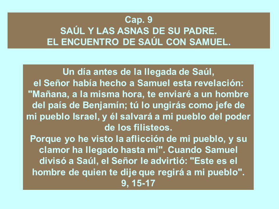 SAÚL Y LAS ASNAS DE SU PADRE. EL ENCUENTRO DE SAÚL CON SAMUEL.