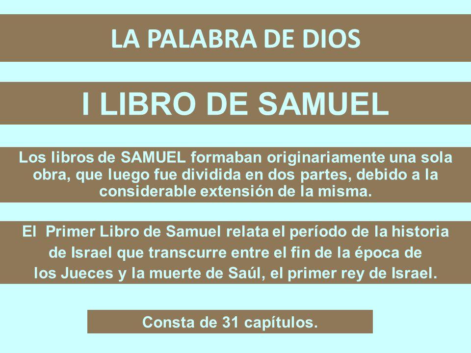 I LIBRO DE SAMUEL LA PALABRA DE DIOS