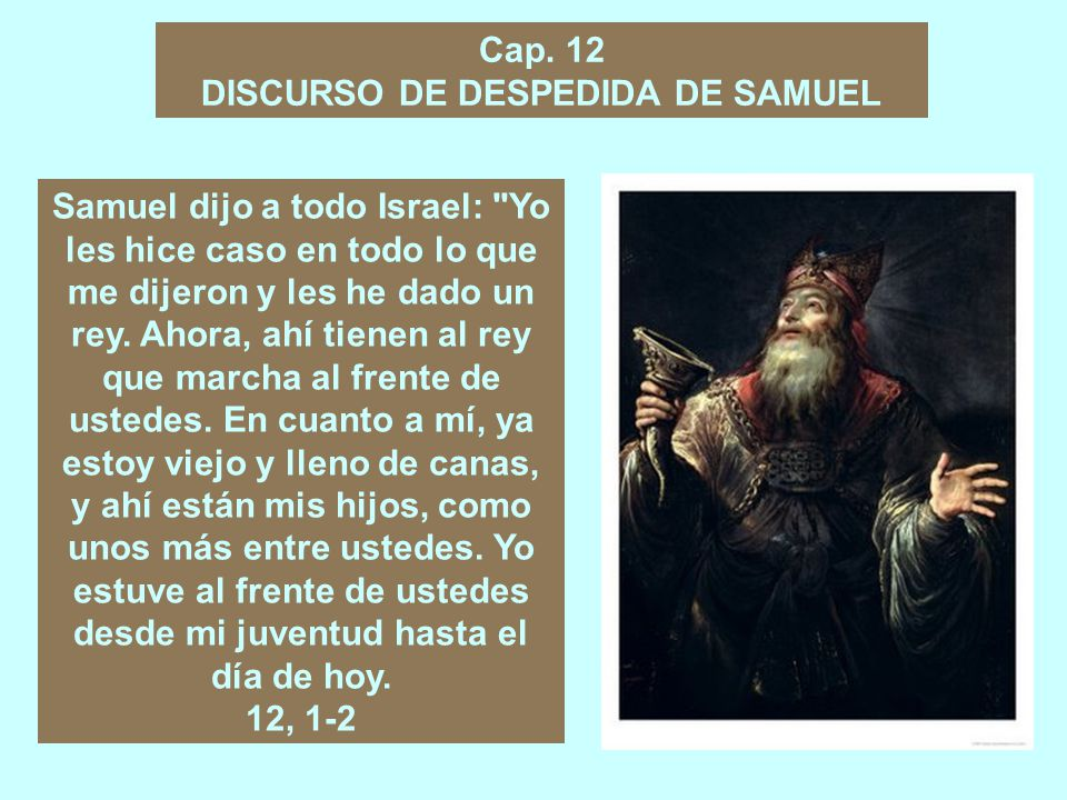 DISCURSO DE DESPEDIDA DE SAMUEL