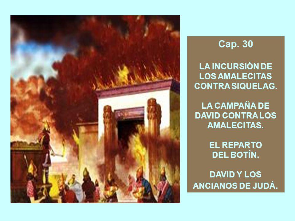 Cap. 30 LA INCURSIÓN DE LOS AMALECITAS CONTRA SIQUELAG.