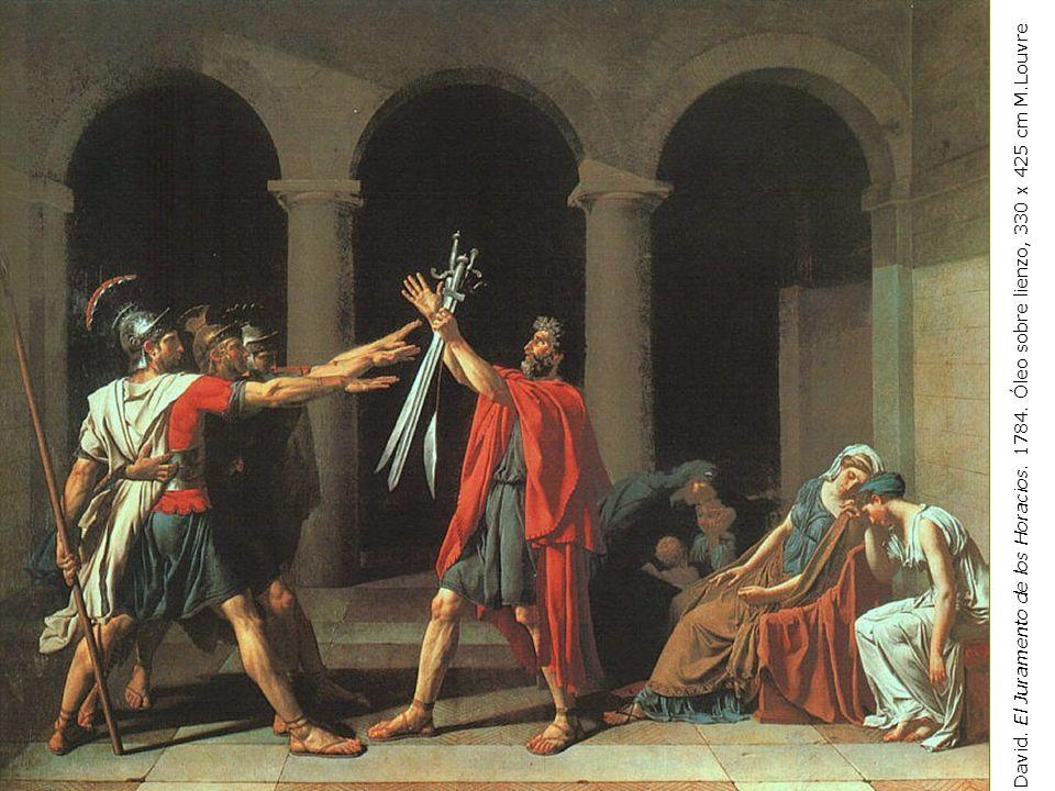 J-L. David. El Juramento de los Horacios. 1784