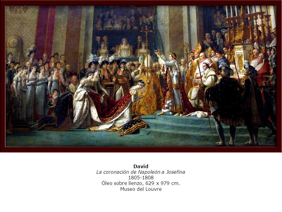 La coronación de Napoleón a Josefina