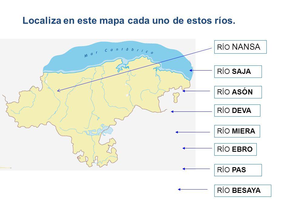 Localiza en este mapa cada uno de estos ríos.