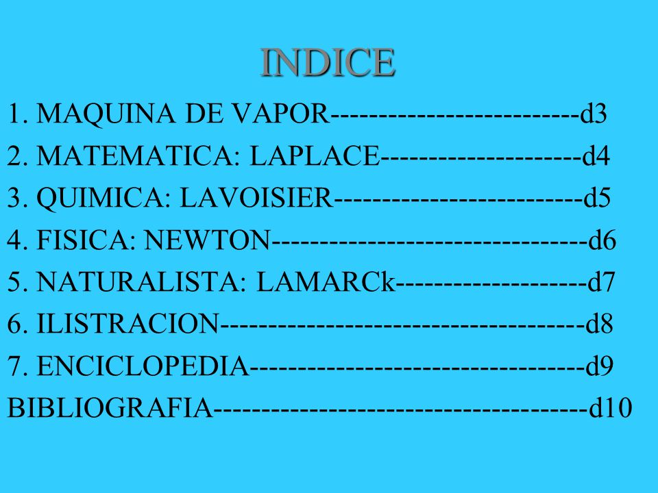 INDICE 1. MAQUINA DE VAPOR--------------------------d3