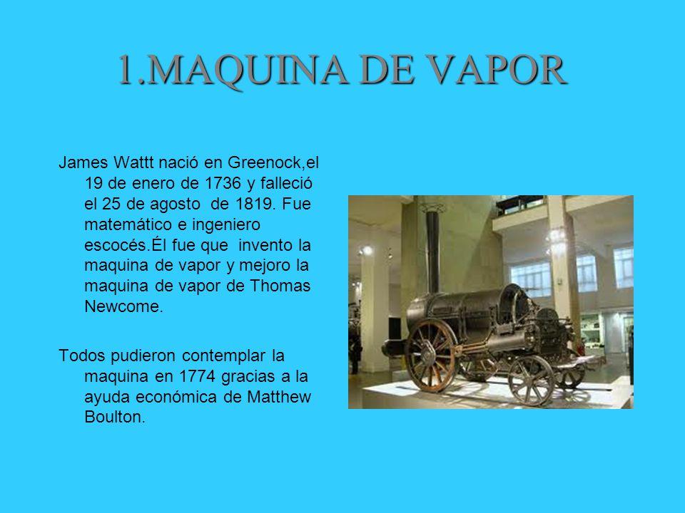 1.MAQUINA DE VAPOR