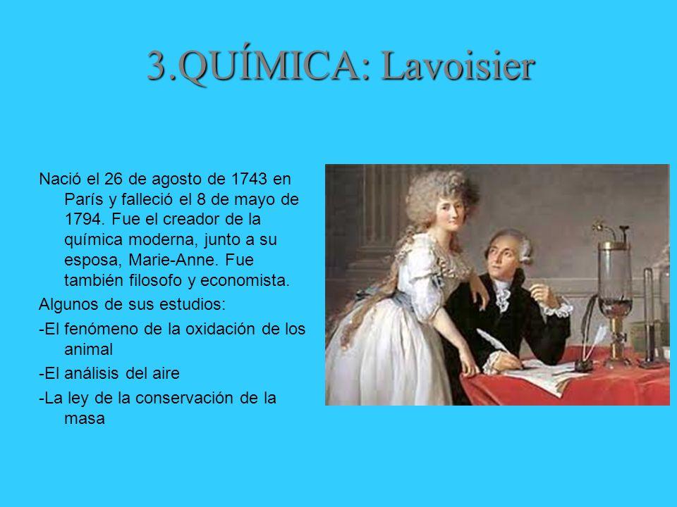 3.QUÍMICA: Lavoisier