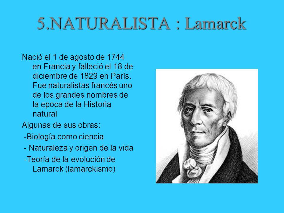 5.NATURALISTA : Lamarck