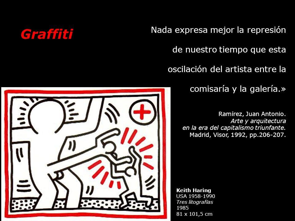 Nada expresa mejor la represión de nuestro tiempo que esta oscilación del artista entre la comisaría y la galería.»
