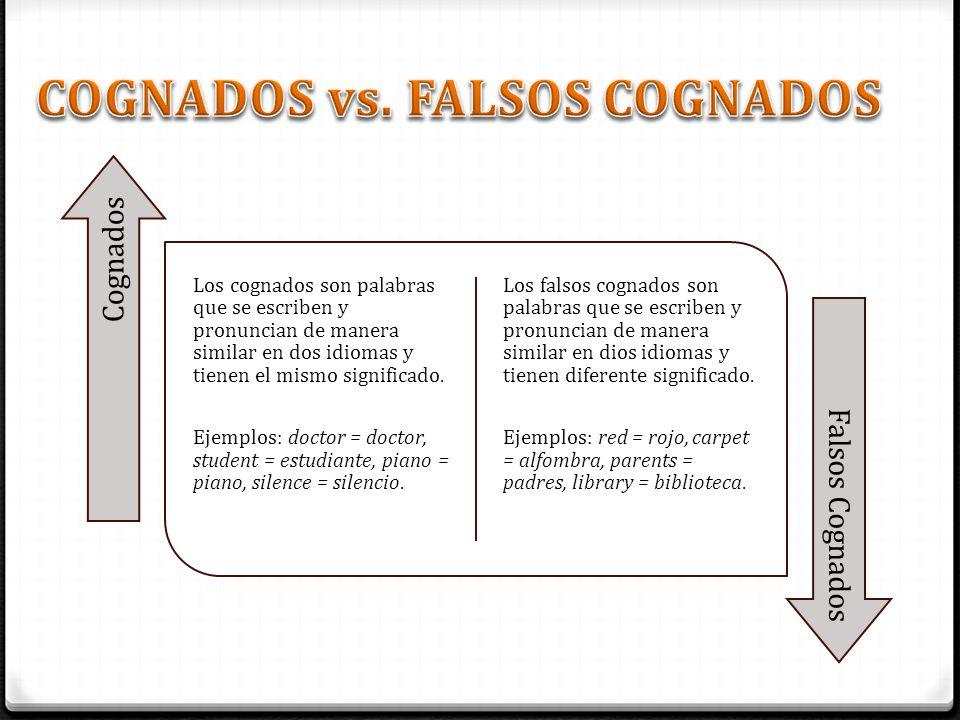 COGNADOS vs. FALSOS COGNADOS