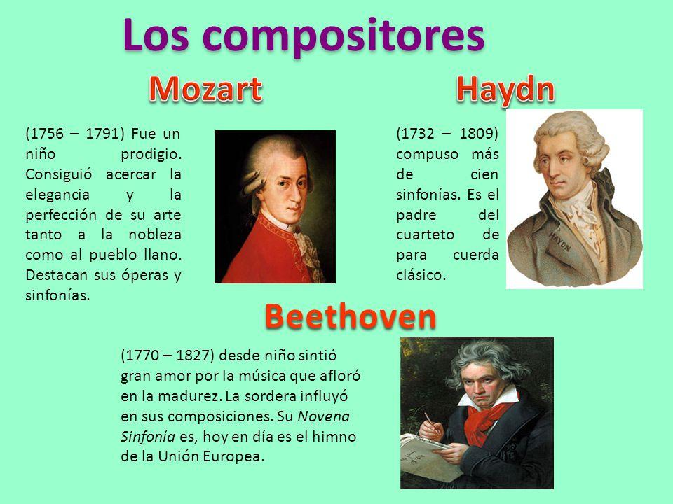 Los compositores Mozart Haydn Beethoven
