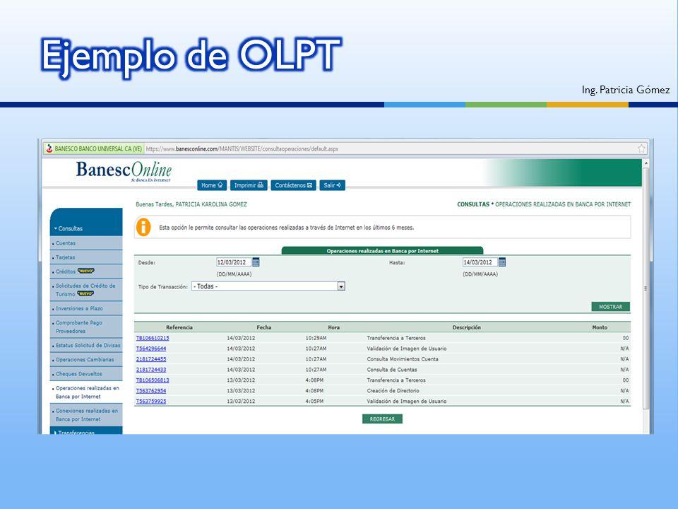Ejemplo de OLPT Ing. Patricia Gómez
