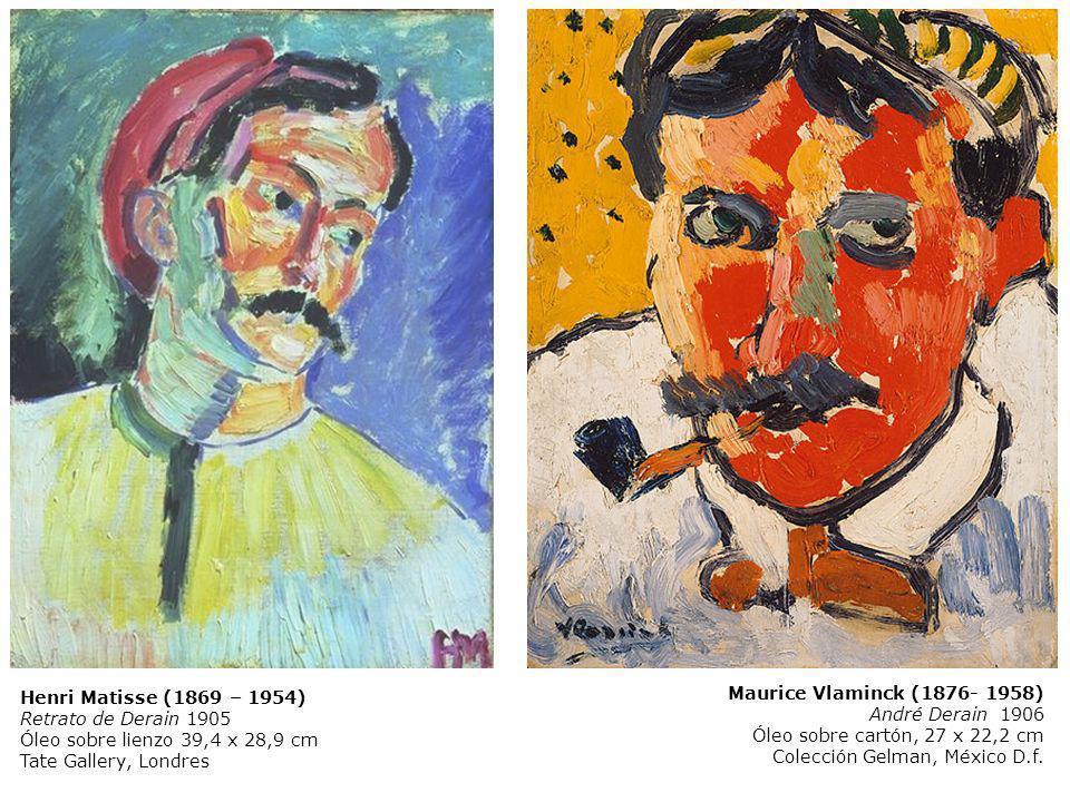 Henri Matisse (1869 – 1954) Retrato de Derain 1905. Óleo sobre lienzo 39,4 x 28,9 cm. Tate Gallery, Londres.