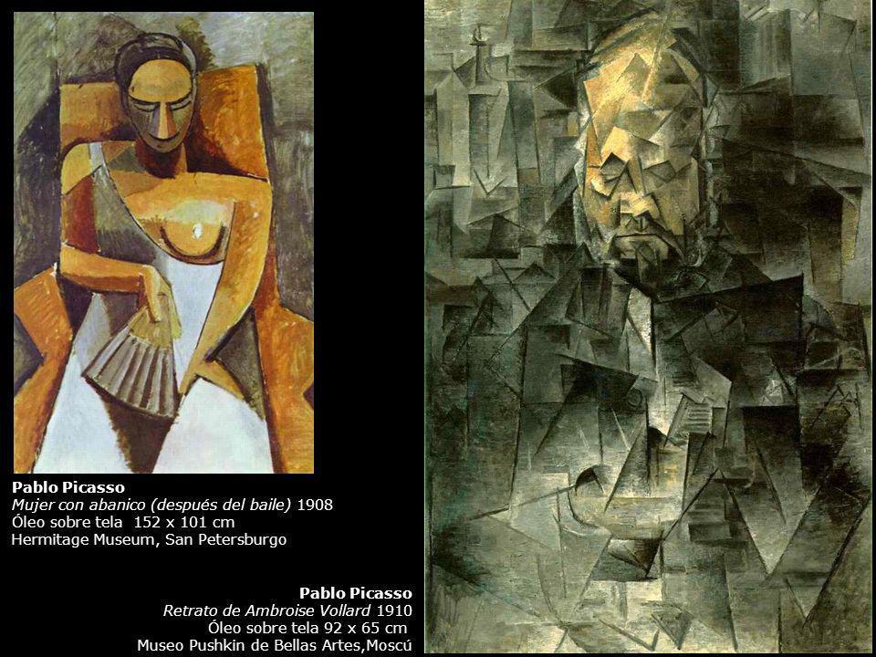 Pablo Picasso Mujer con abanico (después del baile) 1908. Óleo sobre tela 152 x 101 cm. Hermitage Museum, San Petersburgo.