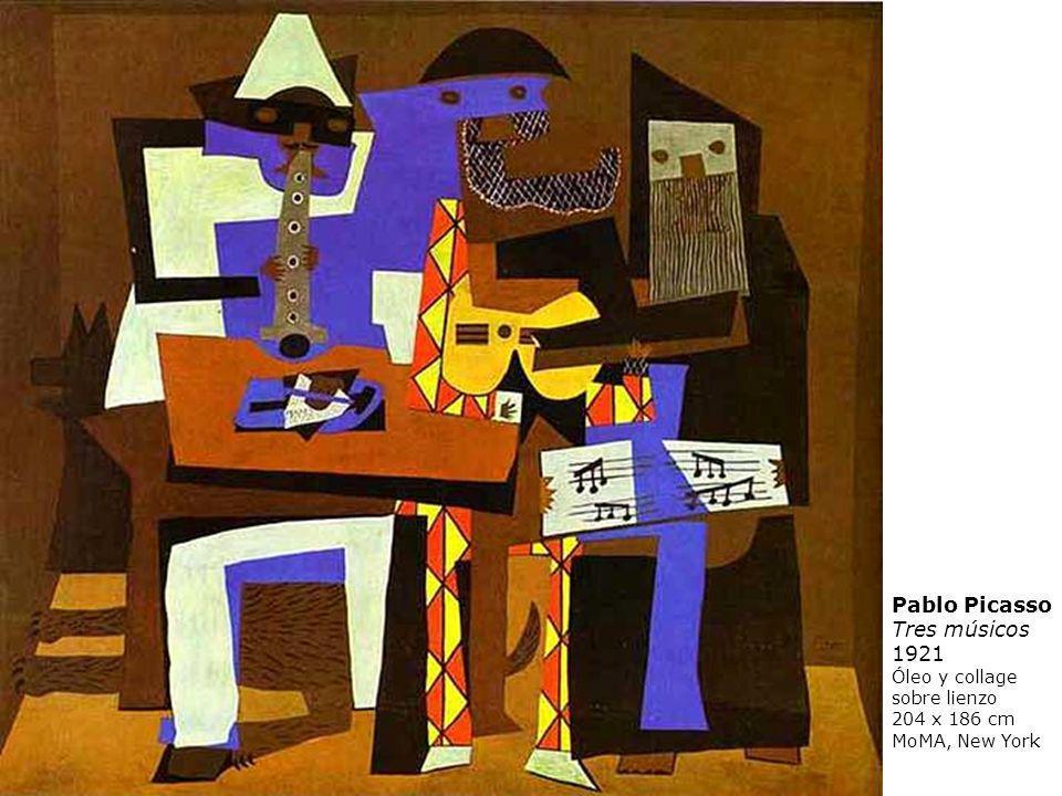 Pablo Picasso Tres músicos 1921 Óleo y collage sobre lienzo
