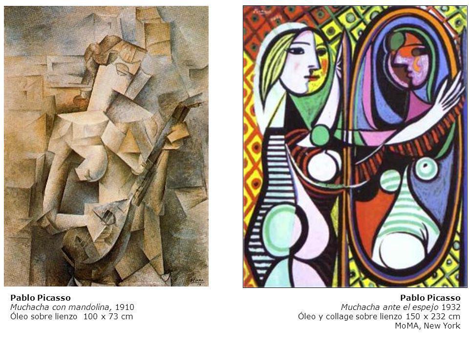 Pablo Picasso Muchacha con mandolina, 1910. Óleo sobre lienzo 100 x 73 cm. Pablo Picasso. Muchacha ante el espejo 1932.