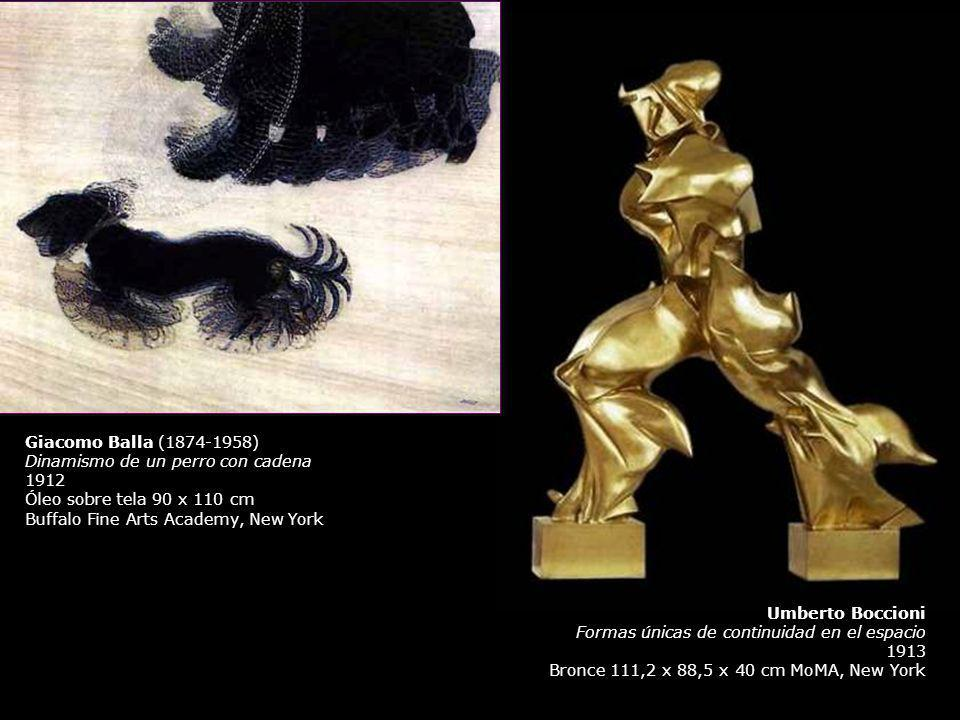 Giacomo Balla (1874-1958) Dinamismo de un perro con cadena. 1912. Óleo sobre tela 90 x 110 cm. Buffalo Fine Arts Academy, New York.