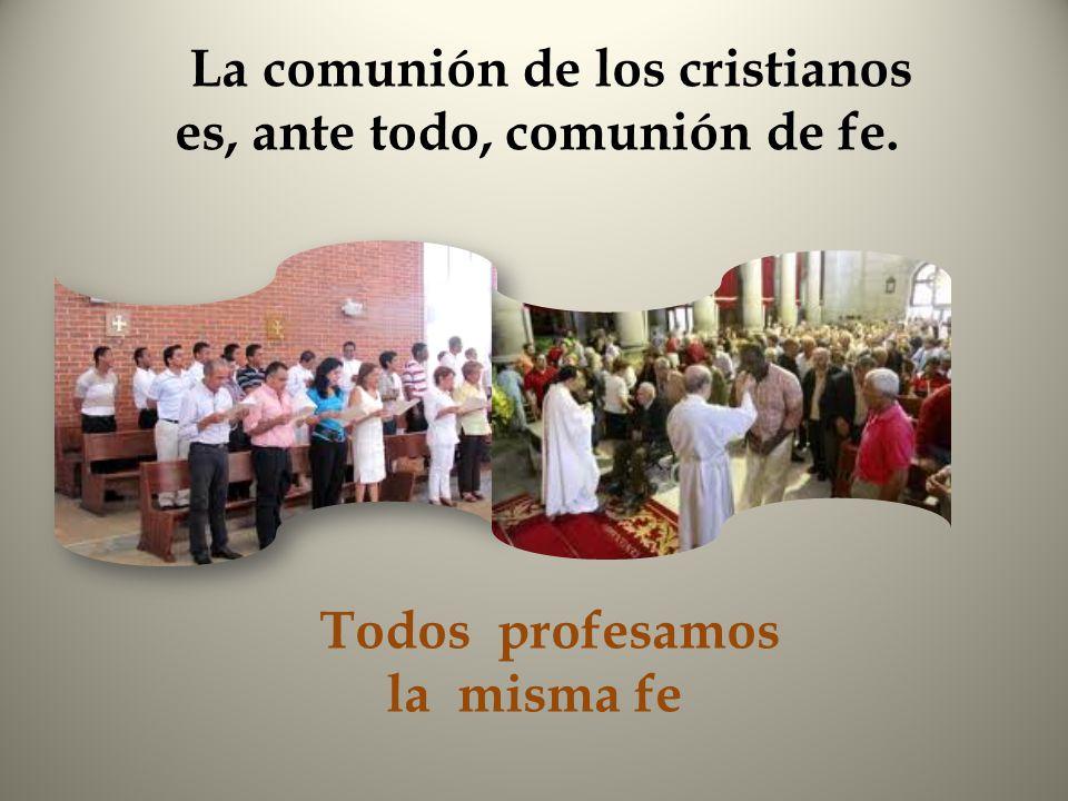 La comunión de los cristianos es, ante todo, comunión de fe.