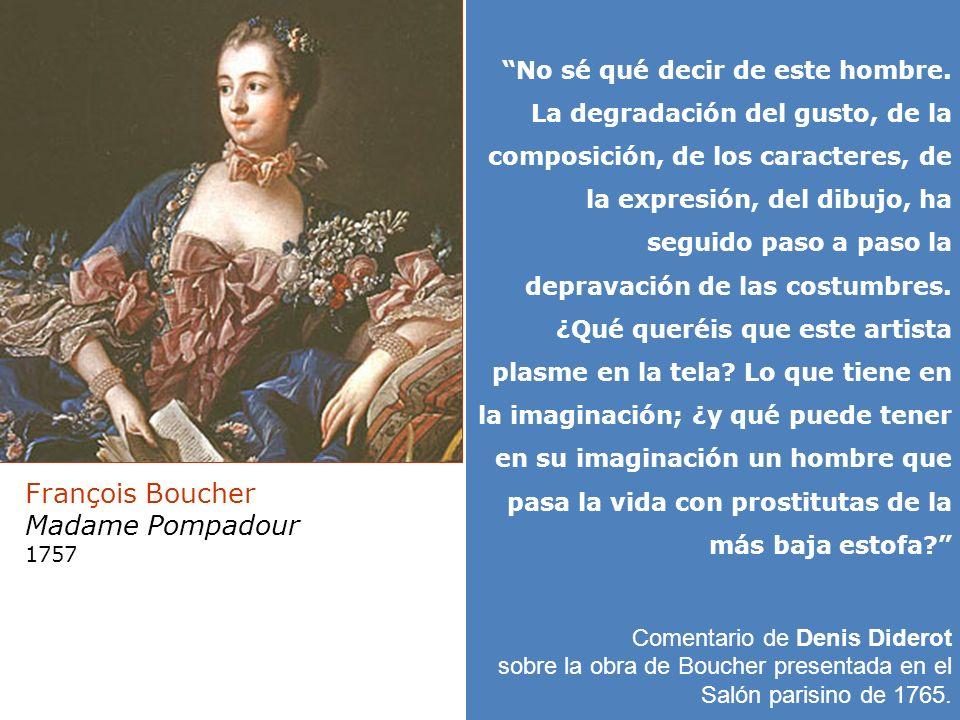 Jacques Louis David François Boucher Madame Pompadour