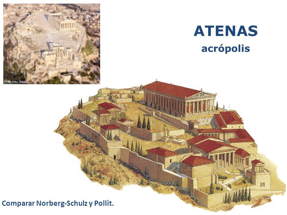 ATENAS acrópolis Comparar Norberg-Schulz y Pollit.