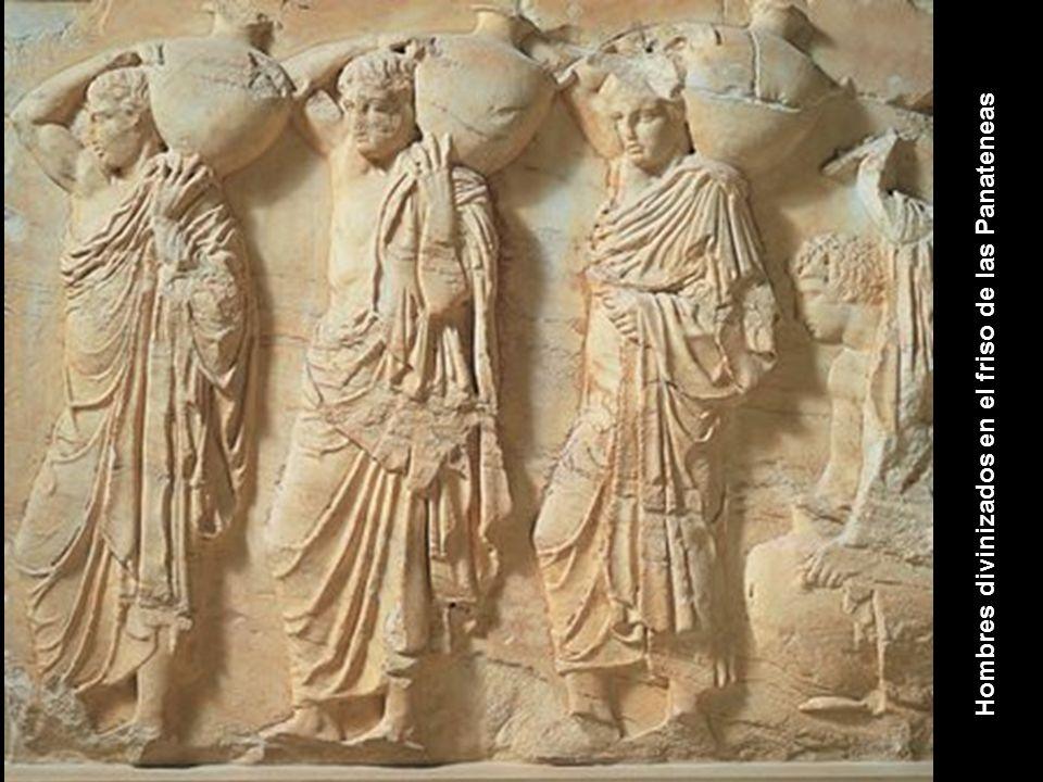Hombres divinizados en el friso de las Panateneas