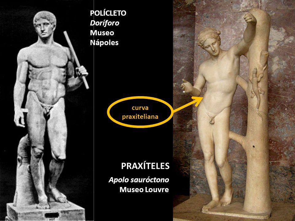 PRAXÍTELES POLÍCLETO Doríforo Museo Nápoles Apolo sauróctono