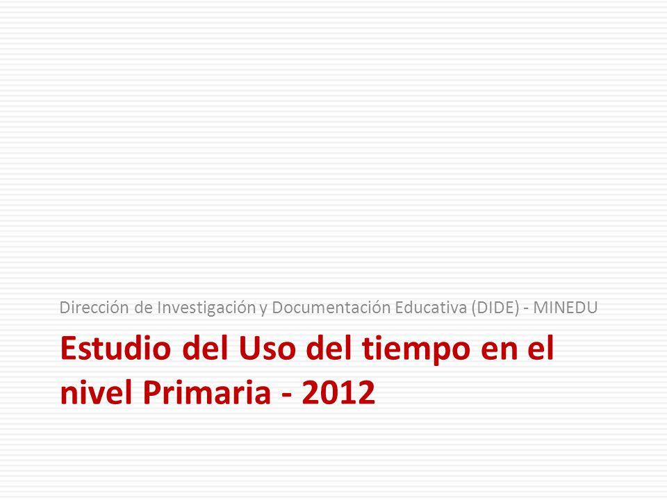 Estudio del Uso del tiempo en el nivel Primaria - 2012