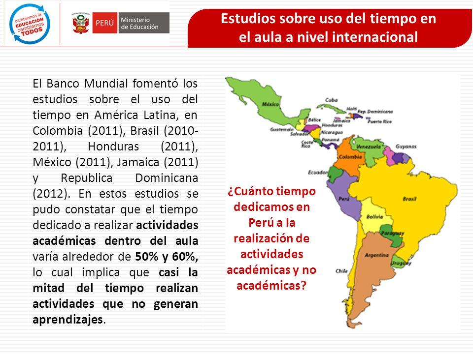 Estudios sobre uso del tiempo en el aula a nivel internacional