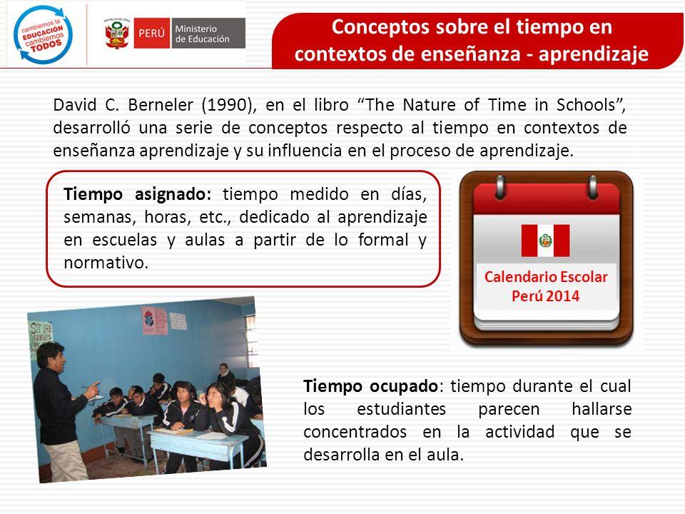 Conceptos sobre el tiempo en contextos de enseñanza - aprendizaje