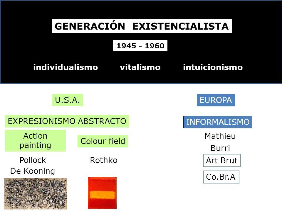 GENERACIÓN EXISTENCIALISTA