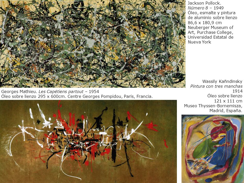 Jackson Pollock. Número 8 – 1949