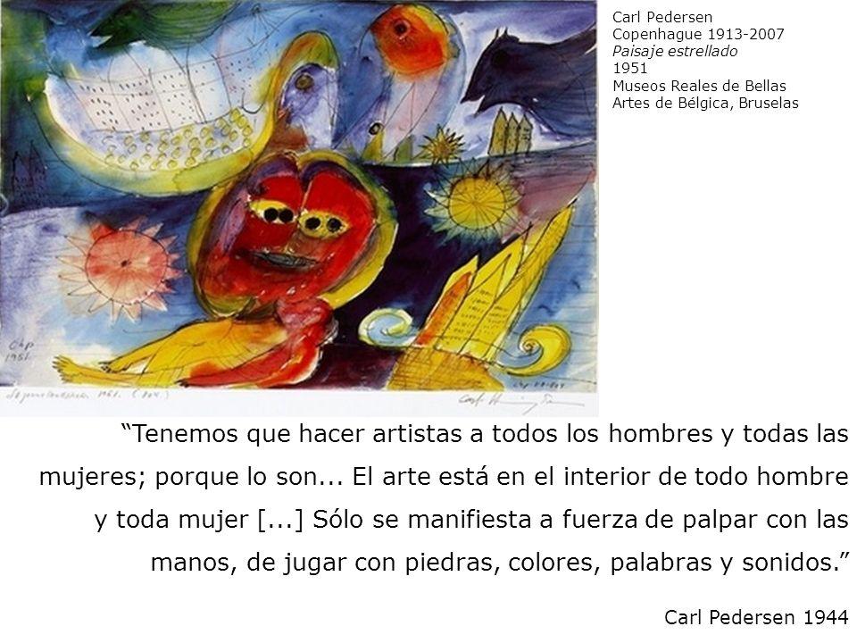 Carl Pedersen Copenhague 1913-2007. Paisaje estrellado. 1951. Museos Reales de Bellas Artes de Bélgica, Bruselas.