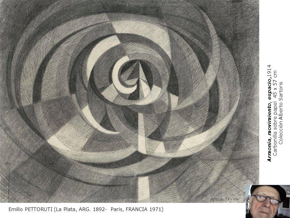 Armonía, movimiento, espacio,1914 Carbonilla sobre papel 45 x 57 cm