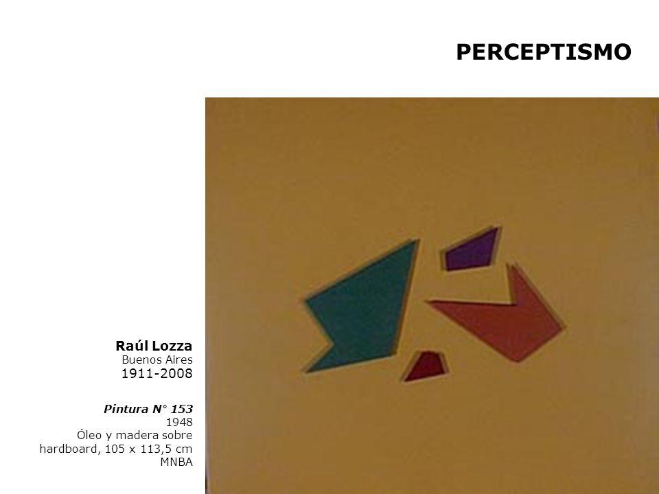 PERCEPTISMO Raúl Lozza Buenos Aires 1911-2008 Pintura N° 153