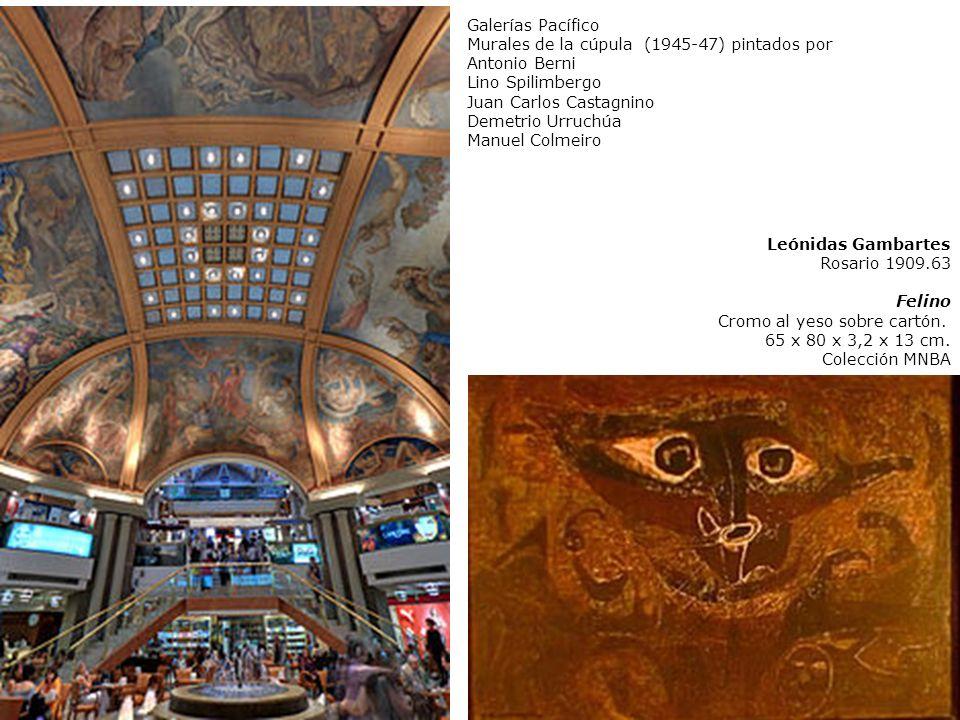 Galerías PacíficoMurales de la cúpula (1945-47) pintados por. Antonio Berni. Lino Spilimbergo. Juan Carlos Castagnino.