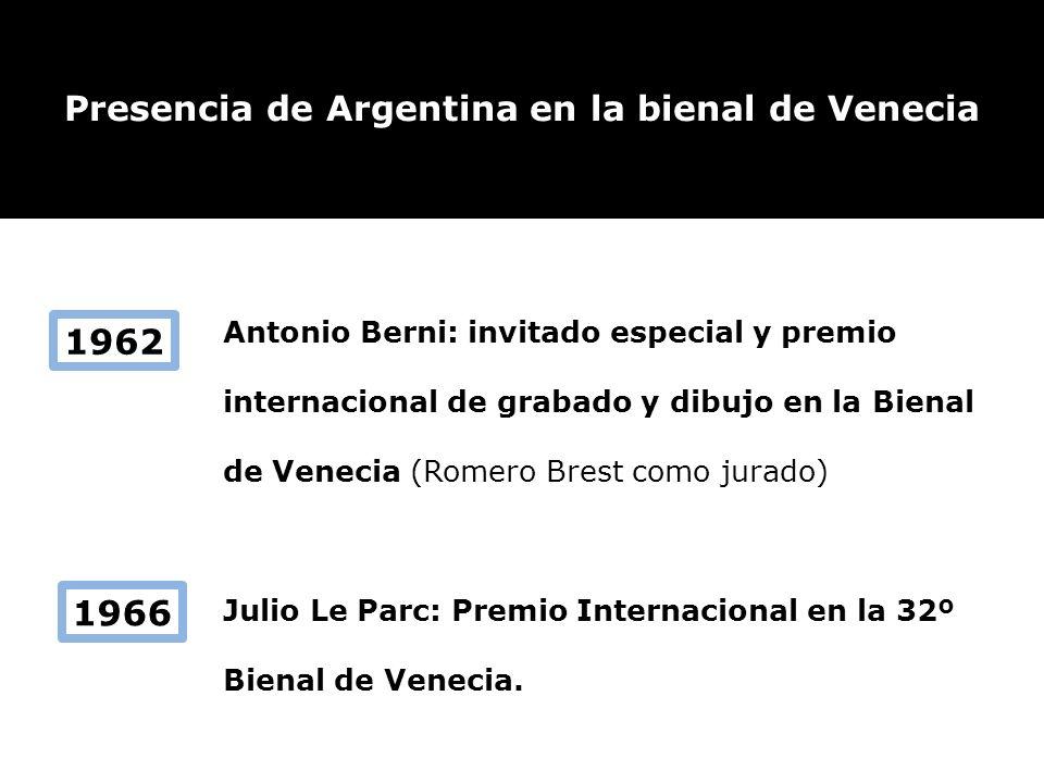 Presencia de Argentina en la bienal de Venecia