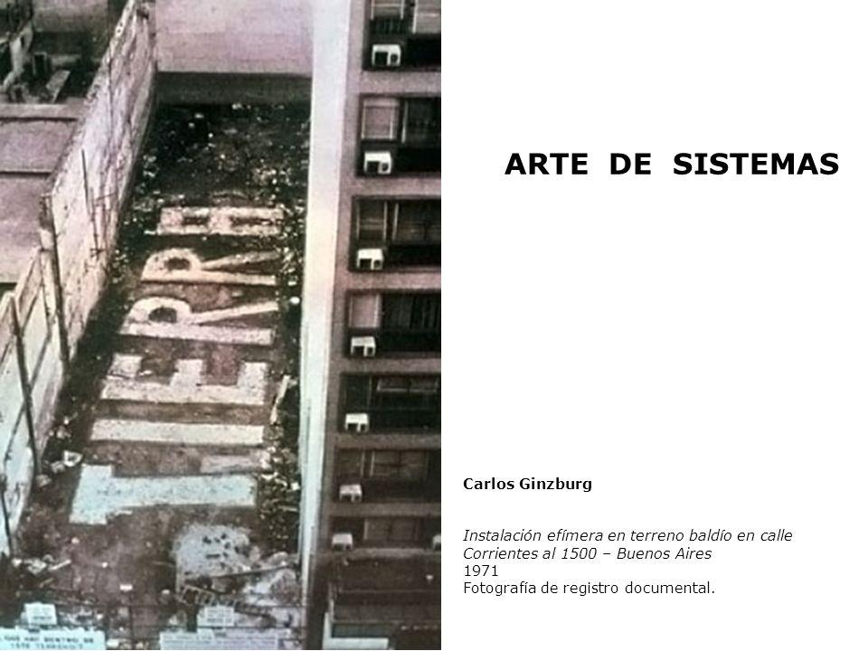 ARTE DE SISTEMAS Carlos Ginzburg