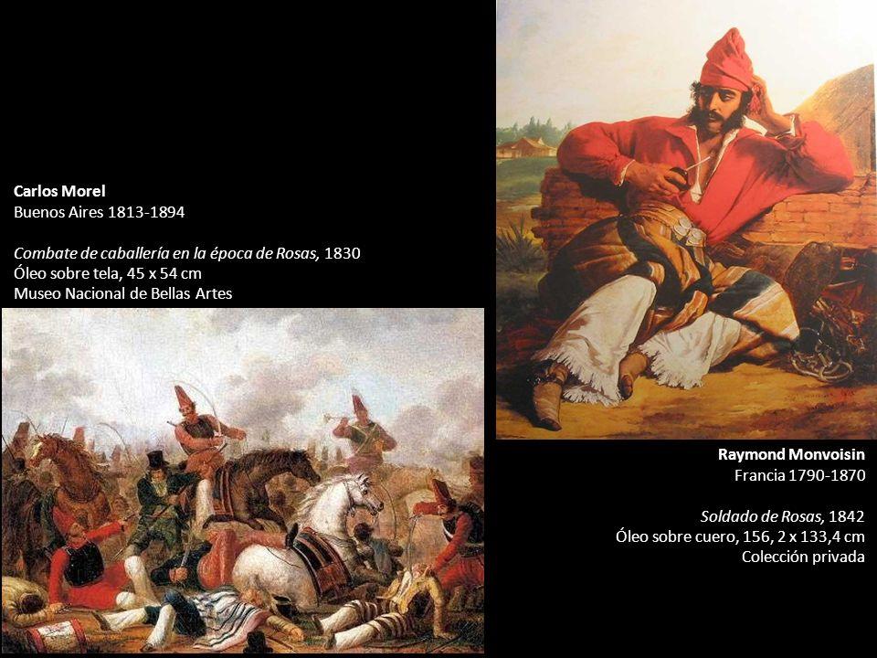 Carlos Morel Buenos Aires 1813-1894. Combate de caballería en la época de Rosas, 1830. Óleo sobre tela, 45 x 54 cm.