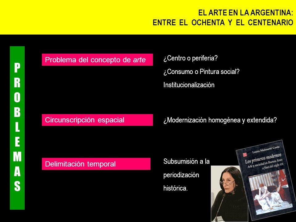 PROBLEMAS EL ARTE EN LA ARGENTINA: ENTRE EL OCHENTA Y EL CENTENARIO