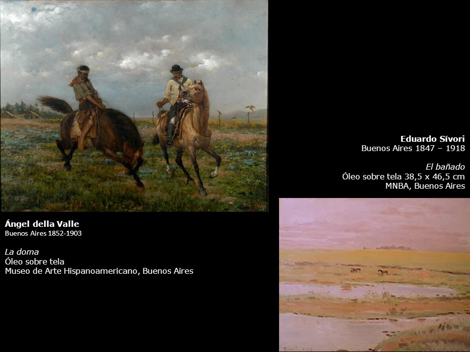 Eduardo Sívori Buenos Aires 1847 – 1918. El bañado. Óleo sobre tela 38,5 x 46,5 cm. MNBA, Buenos Aires.