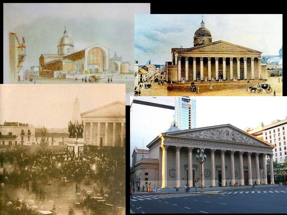 Eliot Catedral de Buenos Aires. 1817. Acuarela. Instituto Nacional Sanmartiniano. Charles Henri Pellegrini.
