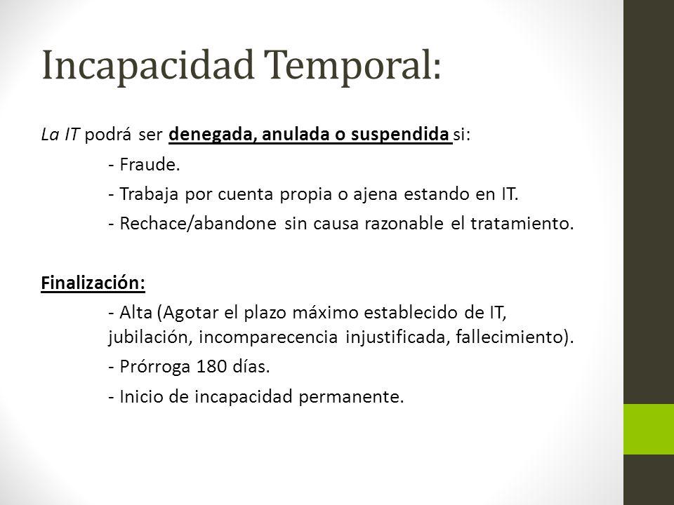 Incapacidad Temporal: