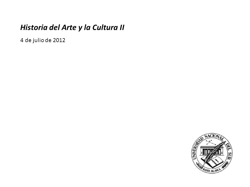 Historia del Arte y la Cultura II