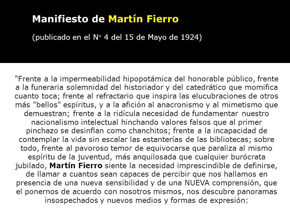 Manifiesto de Martín Fierro