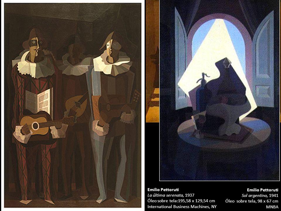 Pablo Picasso Tres músicos, 1921. Óleo y collage sobre tela 204 x 188 cm. MoMA. Emilio Pettoruti.