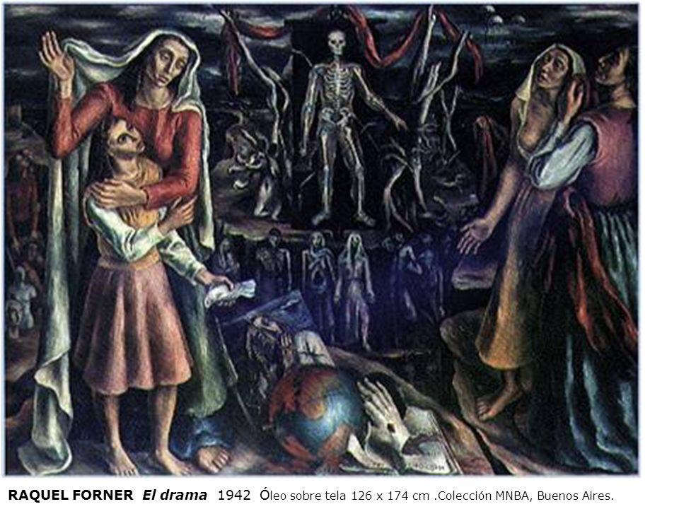 RAQUEL FORNER El drama 1942 Óleo sobre tela 126 x 174 cm