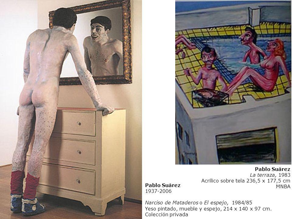 Pablo Suárez La terraza, 1983. Acrílico sobre tela 236,5 x 177,5 cm. MNBA. Pablo Suárez. 1937-2006.
