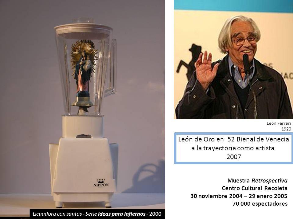 León de Oro en 52 Bienal de Venecia a la trayectoria como artista 2007